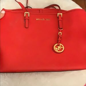 Michael kors BRIGHT red bag
